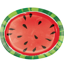 creative converting Juicy Watermelon Oval Dinner Plates - 8ct.