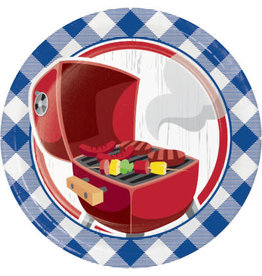 "creative converting Summer BBQ 7"" Plates - 8ct."