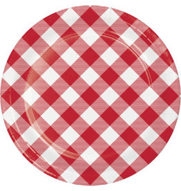 """creative converting Classic Gingham 7"""" Plates - 8ct."""