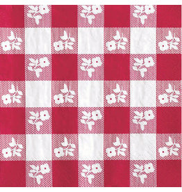 creative converting Red Gingham Lun. Napkins - 16ct.