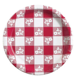 """creative converting Red Gingham 9"""" Plates - 8ct."""