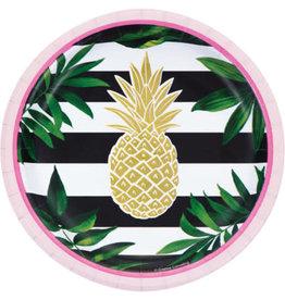 "creative converting Pineapple Wedding 7"" Plate - 8ct."