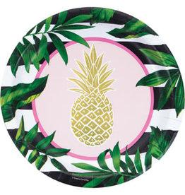 "creative converting Pineapple Wedding 10"" Dinner Plates - 8ct."