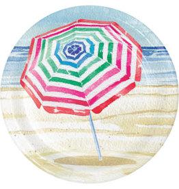 "creative converting Beach Umbrellas 7"" Plates - 8ct."