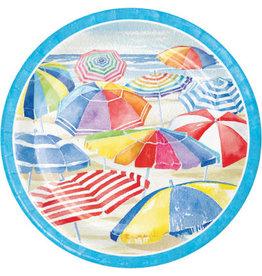 "creative converting Beach Umbrellas 9"" Plates - 8ct."