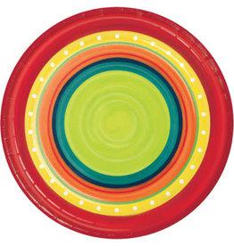 "creative converting Summer Stoneware 7"" Plates - 8ct."