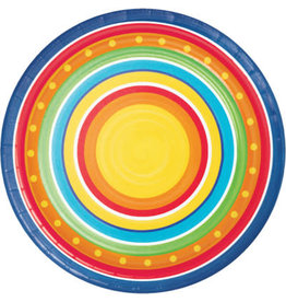 """creative converting Painted Pottery 7"""" Plates - 8ct."""