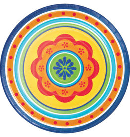 """creative converting Painted Pottery 9"""" Plates - 8ct."""