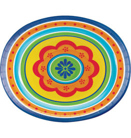 """creative converting Painted Pottery 12"""" Oval Plates - 8ct."""
