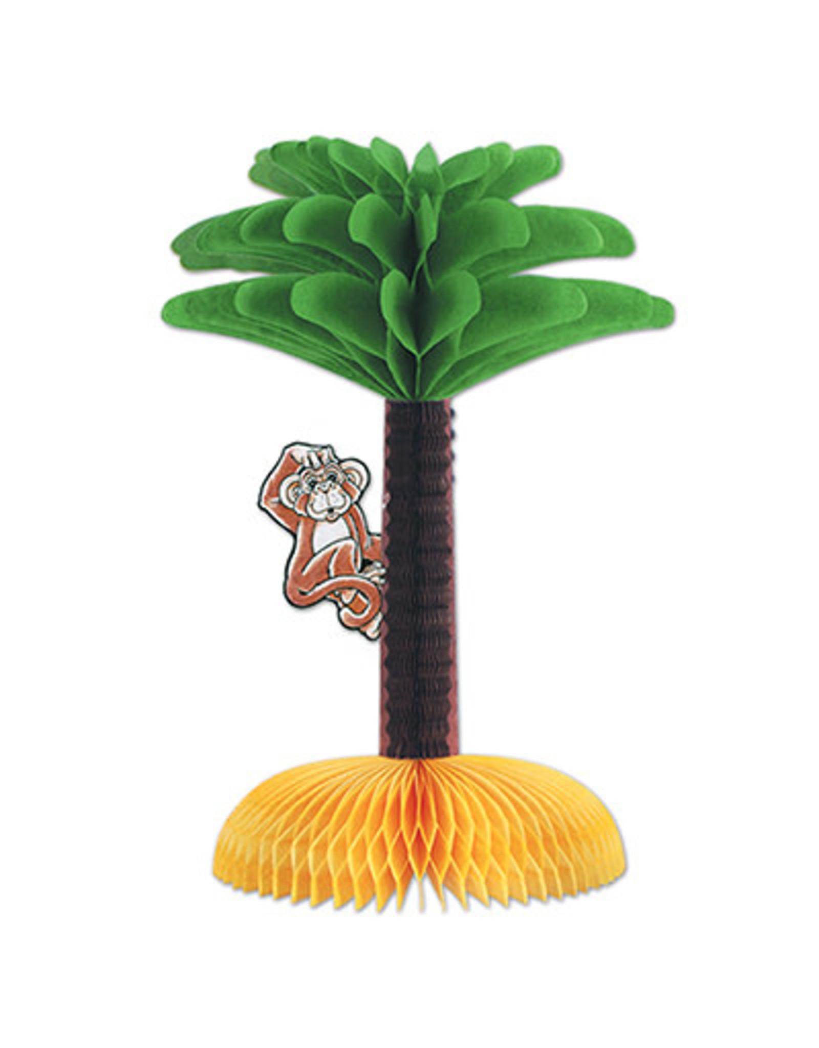 """Beistle 13"""" Palm Tree w/ Monkey Centerpiece - 1ct."""