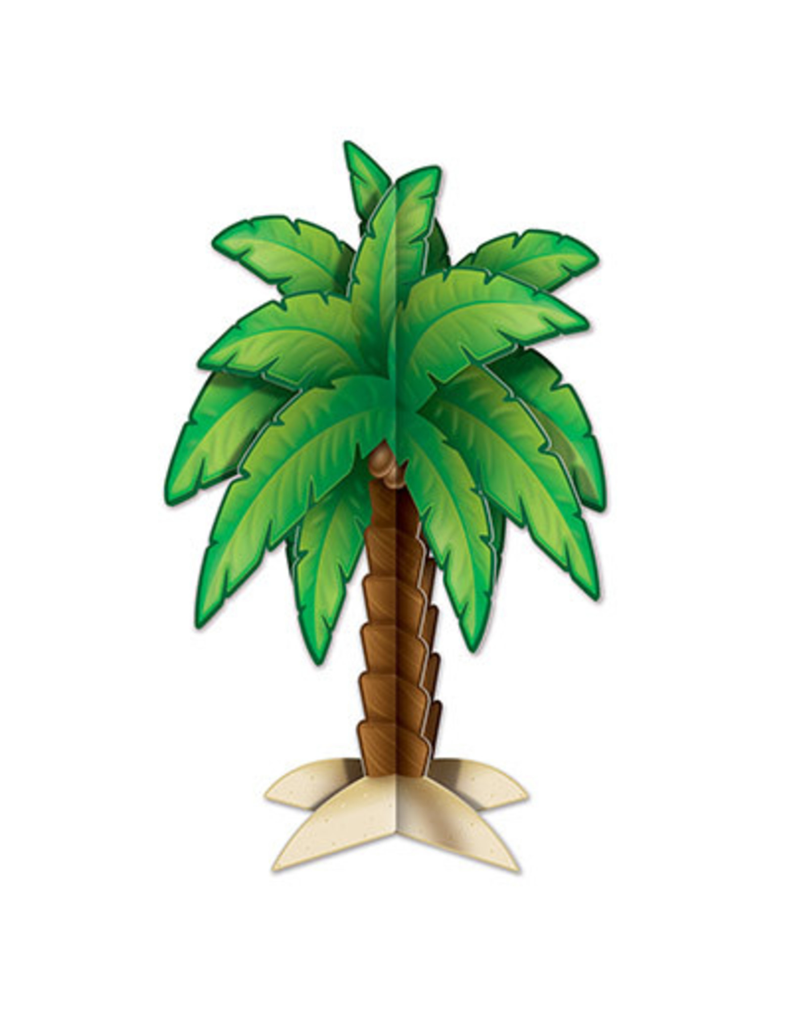 "Beistle 11.75"" 3-D Palm Tree Centerpiece - 1ct."