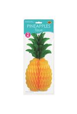 "Beistle 12"" Honeycomb Pineapples - 2ct."