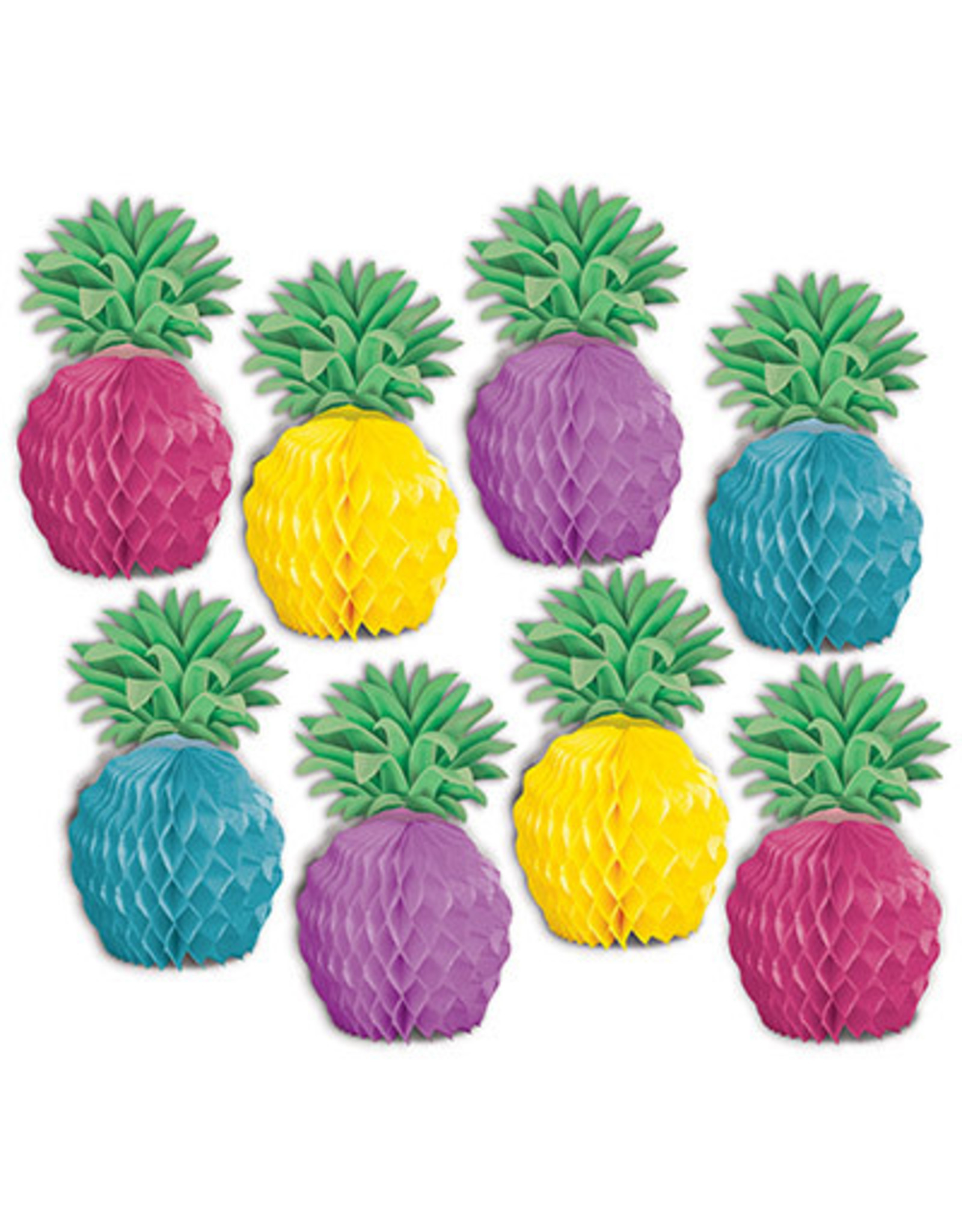 "Beistle 5.25"" Mini Pineapple Centerpieces - 8ct."