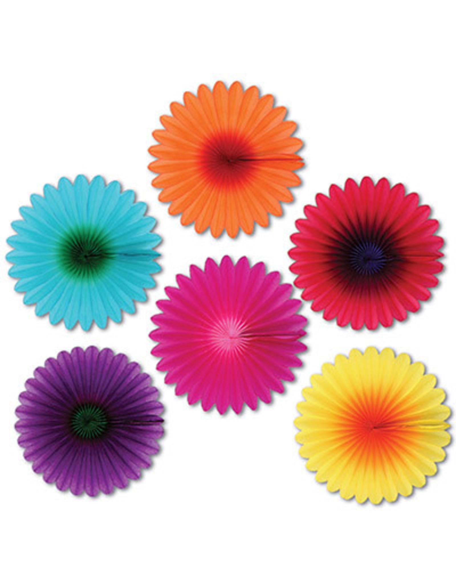"Beistle 6"" Mini Flower Fans - 6ct."