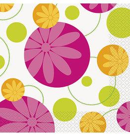 unique Summer Flower Lun. Napkins - 16ct.