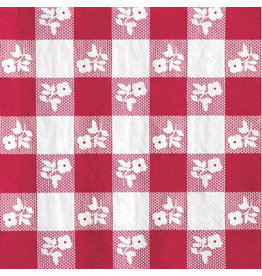 """creative converting 82"""" Red Gingham Round Tablecover"""