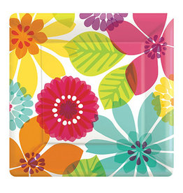 """Amscan Day In Paradise 7"""" Sq. Plates - 8ct."""