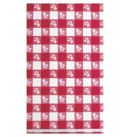 """creative converting Red Gingham Plastic Tablecover -  54""""x108"""""""