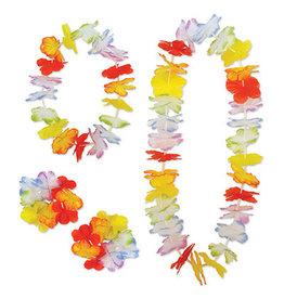 Beistle Rainbow Floral Lei Set - 4ct.
