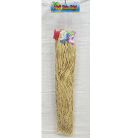 """party club Adult Natural Hula Skirt w/ Flowers - 33.5"""" x 30"""""""