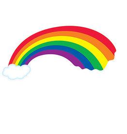 "Beistle Rainbow w/ Cloud Cutout - 31"""