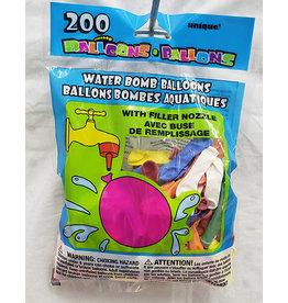 unique Water Balloons w/ Nozzle - 200ct.