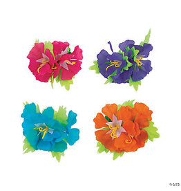 fun express Hibiscus Flower Hair Clip - 1ct. Asst. Colors