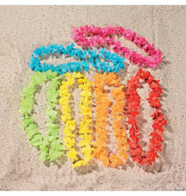 fun express Bright Color Flower Lei - 1ct.