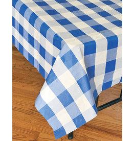 "Havercamp Royal Blue Plaid Tablecover - 54"" x 108"""