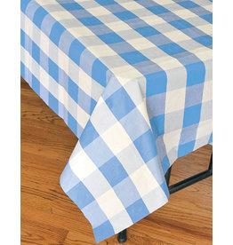 "Havercamp Light Blue Plaid Tablecover - 54"" x 108"""