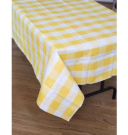 "Havercamp Yellow Plaid Tablecover - 54"" x 108"""