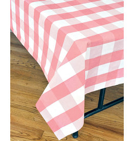 "Havercamp Light Pink Plaid Tablecover - 54"" x 108"""