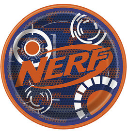 "unique Nerf 9"" Plates - 8ct."