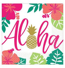 Amscan You Had Me At Aloha Lun. Napkins - 16ct.