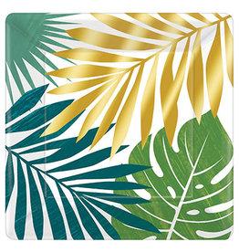 "Amscan Key West 10"" Sq. Plates - 8ct."