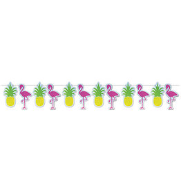 Beistle Flamingo / Pineapple Banner - 12ft.