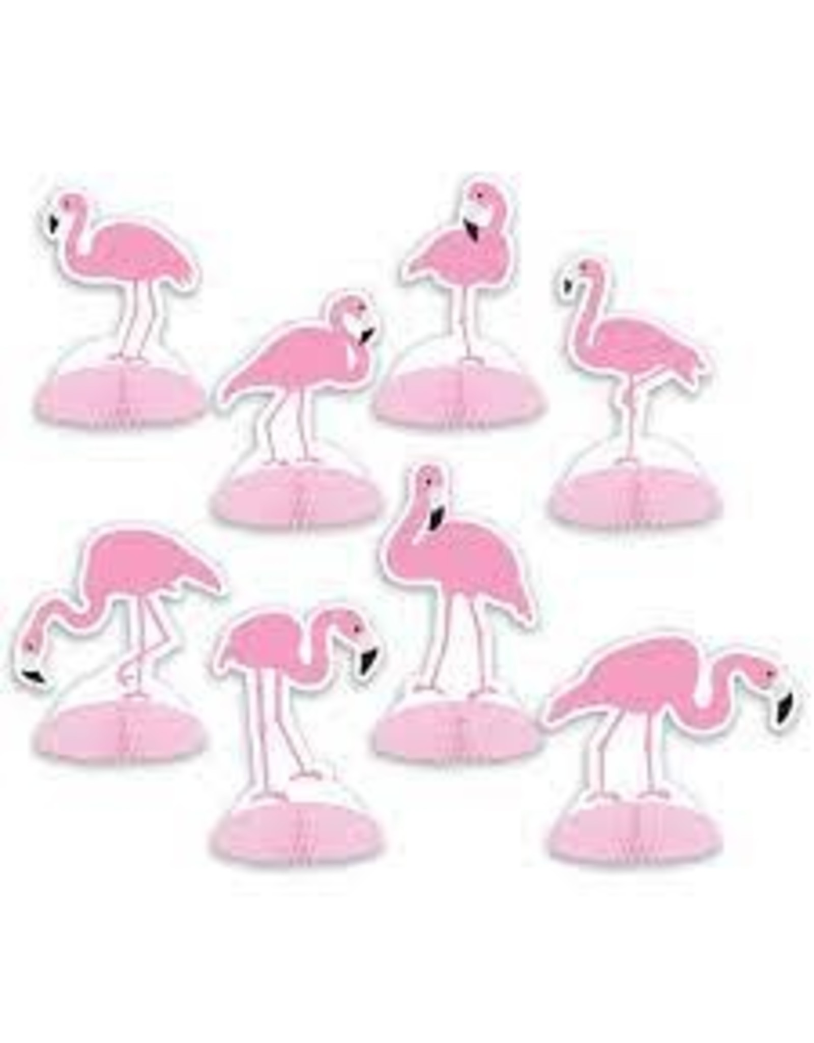 "Beistle 4.75"" Mini Flamingo Centerpieces - 8ct."
