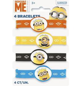 unique Despicable Me Minions Bracelets - 4ct.