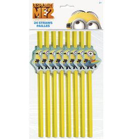 unique Despicable Me Minions Straws - 24ct.