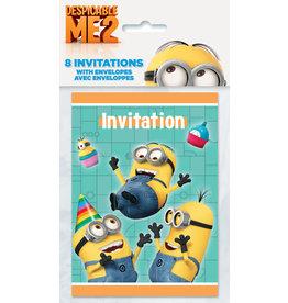 unique Despicable Me Minions Invites - 8ct.