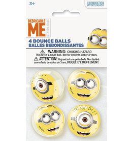 unique Despicable Me Minion Bouncy Balls - 4ct.