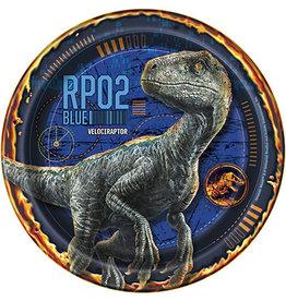"""unique Jurassic World 7"""" Plates - 8ct."""