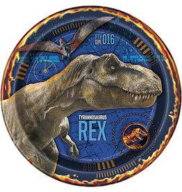 """unique Jurassic World 9"""" Plates - 8ct."""