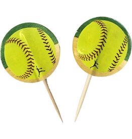 Havercamp Fastpitch Softball Party Picks - 24ct.
