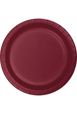 """Touch of Color Burgundy 10"""" Paper Plates - 24ct."""