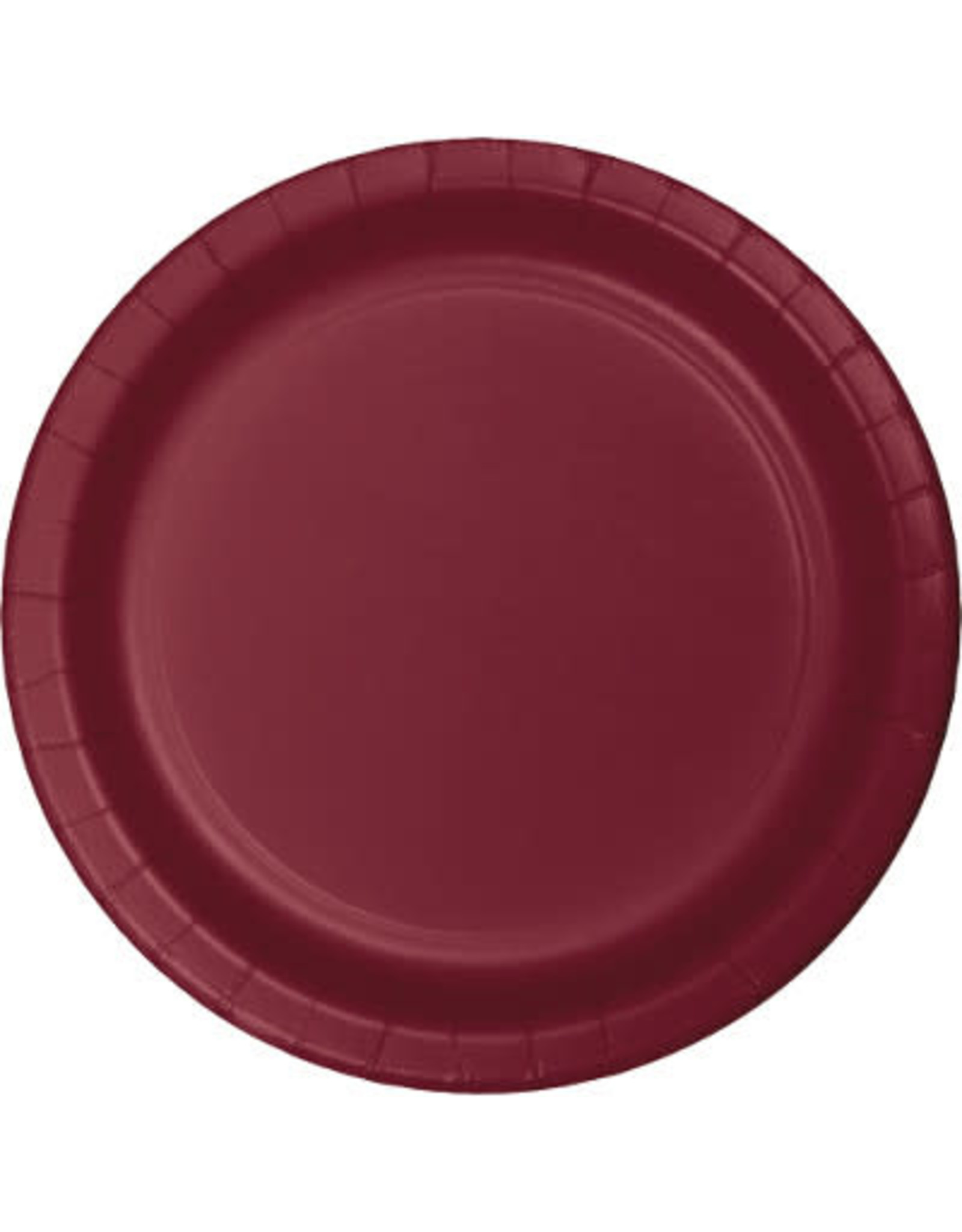 """Touch of Color 10"""" Burgundy Paper Banquet Plates - 24ct."""