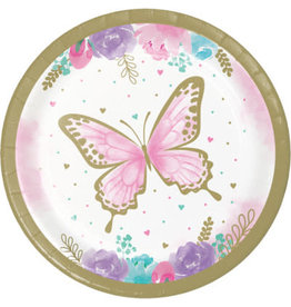 """creative converting Butterfly Shimmer 7"""" Plates - 8ct."""