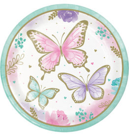"""creative converting Butterfly Shimmer 9"""" Plates - 8ct."""