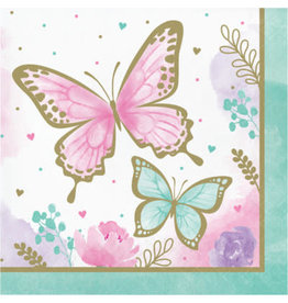 creative converting Butterfly Shimmer Lun. Napkins - 16ct.