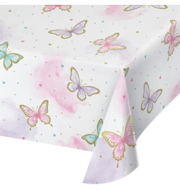 """creative converting Butterfly Shimmer Tablecover - 54"""" x 102"""""""